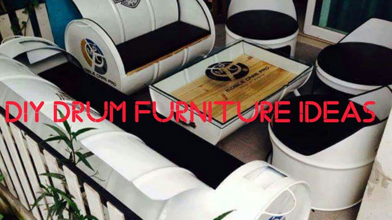 Amazing Best Out Of Waste Old Oil Drum Converted To New Furniture