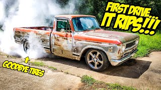 First INSANE Drive Of Our Mid-Engined Corvette-Powered MUSCLE TRUCK (IT RIPS!!!)
