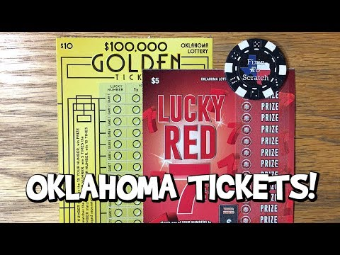 Oklahoma Lottery Tickets! $5 Lucky Red 7s ✦ $10 $100,000