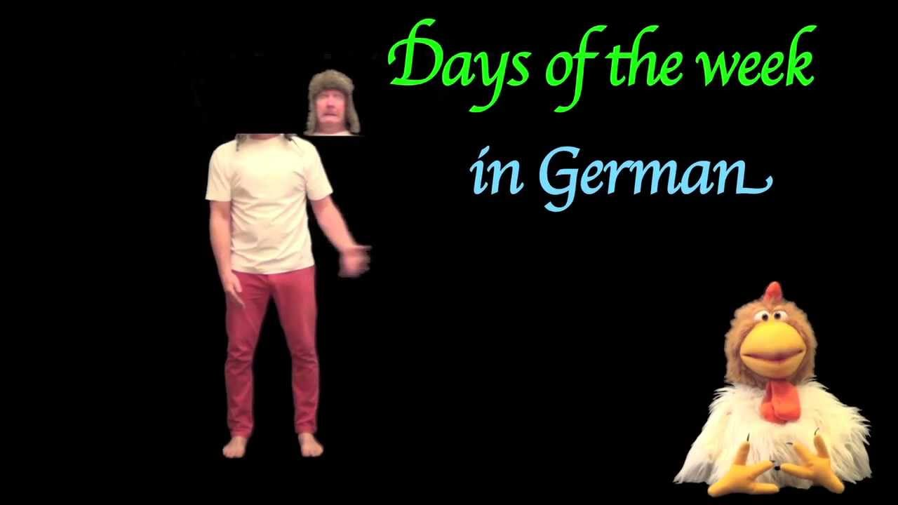 Learn German - The Days of the week in German with Jingle Jeff ...