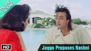 Jaggu Proposes Roshni - Movie Scene - Gumrah - Sanjay Dutt, Sridevi