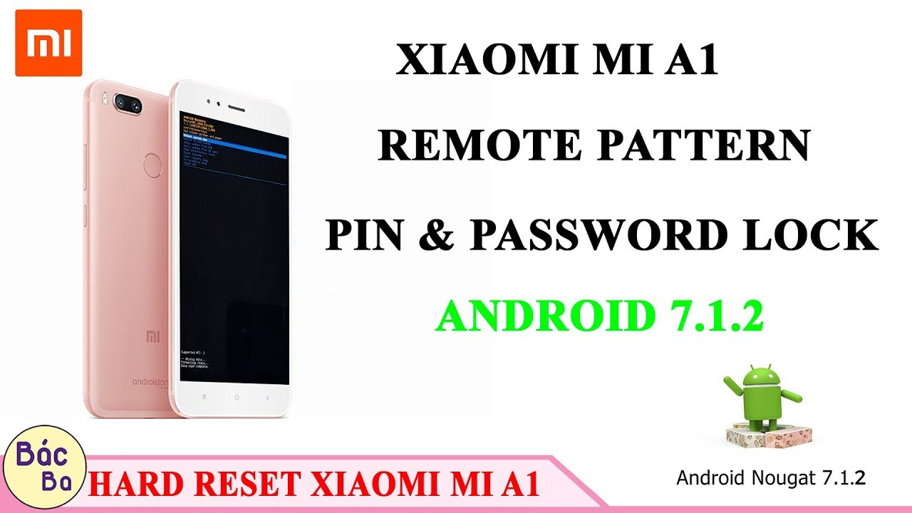 How To Remove Pattern Pin & Password Lock XIAOMI MI A1 | Hard Reset