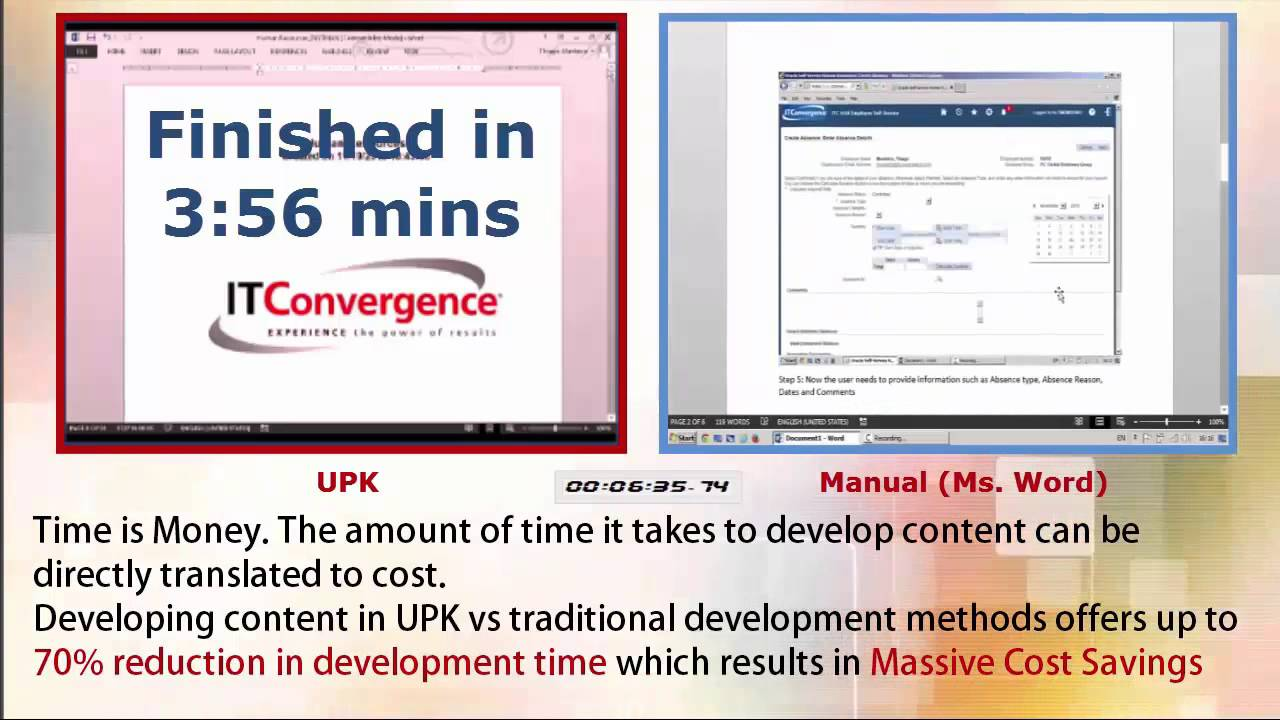 Creating a User Manual Oracle UPK vs MS Word YouTube – Ms Word User Manual