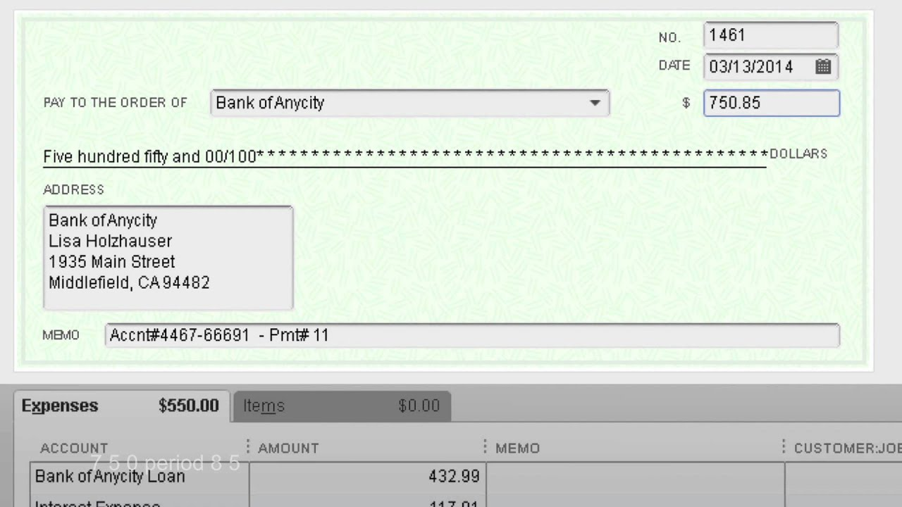 QuickBook Pro 13 write check with JAWS
