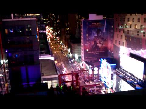 New Years At Times Square AMC Theater Balcony