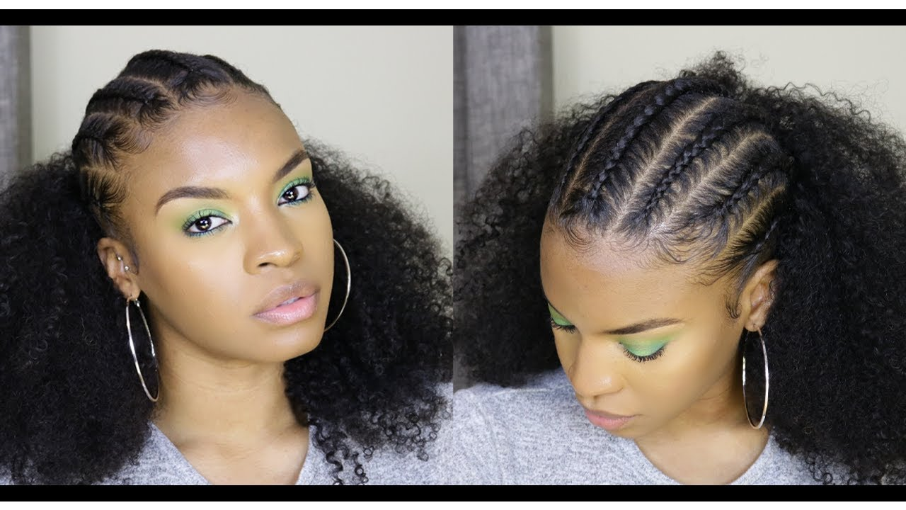 Ethiopian Inspired Quick Style Using Better Length Clip Ins Natural Hair Youtube