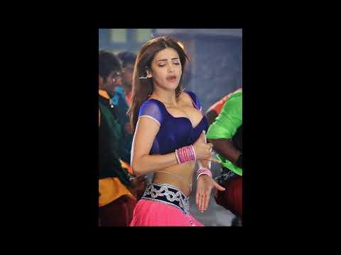 Shruti Hassan Hot Cleavage 'Pimple Dimple' Video Song From Telugu Film Yevadu