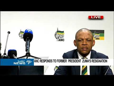 ANC responds to former President Zuma's resignation