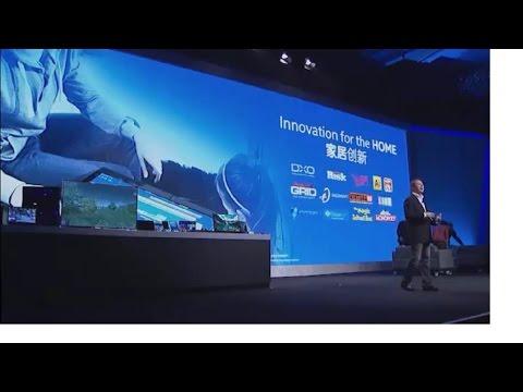 CES Asia 2015 Keynote Kirk Skaugen talking about Intel® technologies