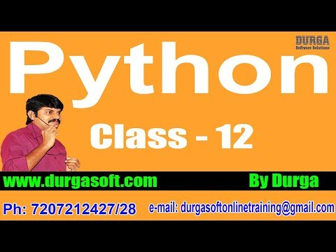Learn Python Programming Tutorial Online Training by Durga Sir On 17-04-2018 @ 6PM
