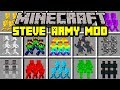 Minecraft STEVE ARMY MOD! | BUILD ARMY OF EVIL STEVES TO SURVIVE! | Modded Mini-Game