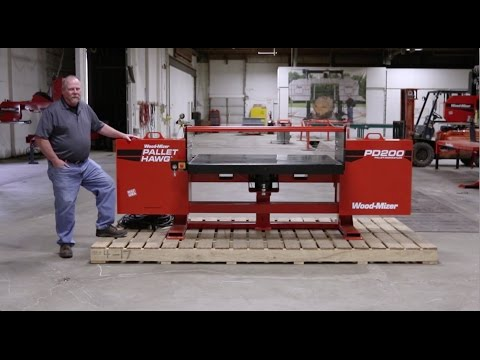 Wood-Mizer Pallet Hawg PD200 Pallet Dismantler - Walkthrough