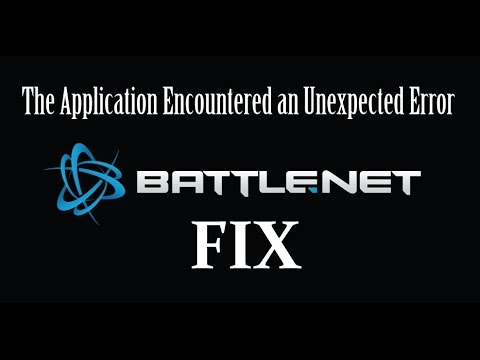"Fix Battle.Net ""Application Encountered an Unexpected Error"" - QUICK AND EASY!"