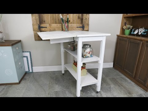 DIY Rolling Work Bench Work Table With Shelves