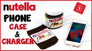 DIY Crafts: NUTELLA Portable Phone Charger & Phone Case - Easy Nutella DIYs - Cool DIY Tutorial!