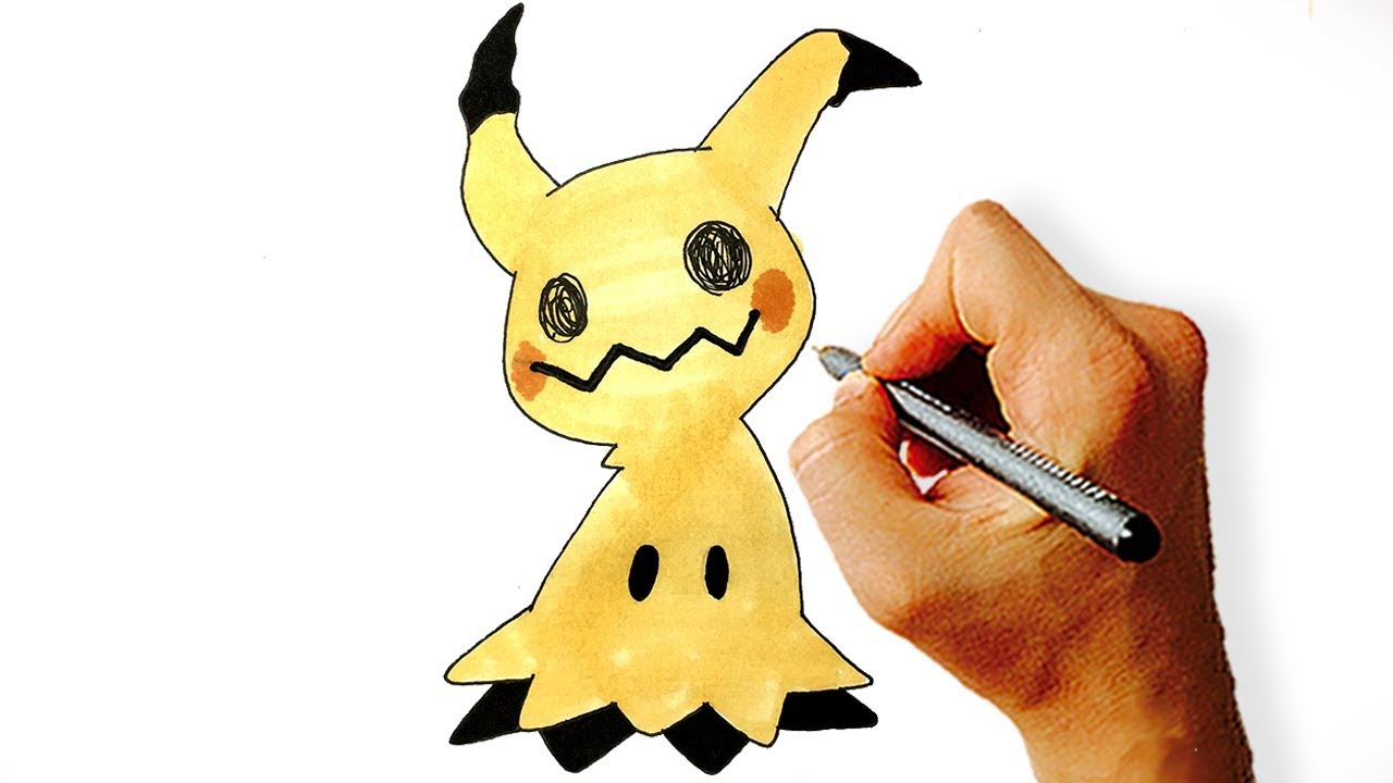 How To Draw Mimikyu Pokemon Step By Step Youtube