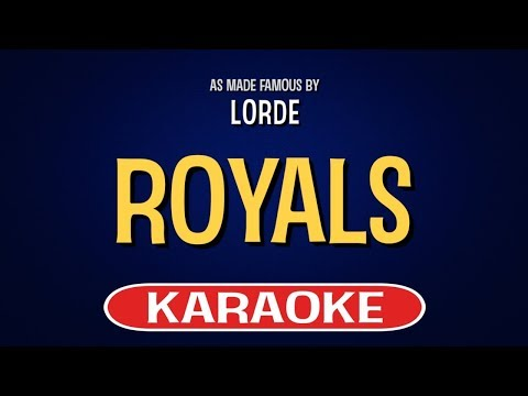 Royals   Karaoke Version in the style of Lorde