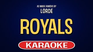 Royals | Karaoke Version in the style of Lorde