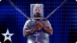 Download Will he ESCAPE? Matt Johnson takes on LIFE-THREATENING act! | Semi-Finals | BGT 2018 Mp3 and Videos