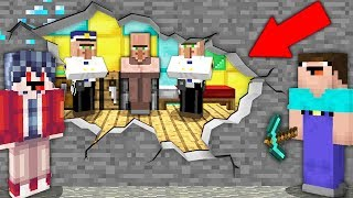 НУБ И ПРО ДЕЛАЮТ ПОБЕГ ИЗ ТЮРЬМЫ ДЕРЕВНИ ЖИТЕЛЕЙ В МАЙНКРАФТЕ  ТРОЛЛИНГ ЛОВУШКА ВЫЖИВАНИЕ Minecraft