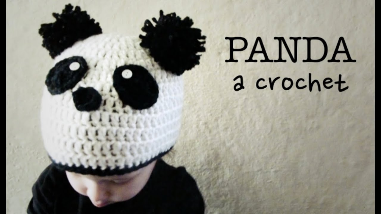 Gorro de OSO PANDA a Crochet - tutorial paso a paso (ENGLISH SUBS ...