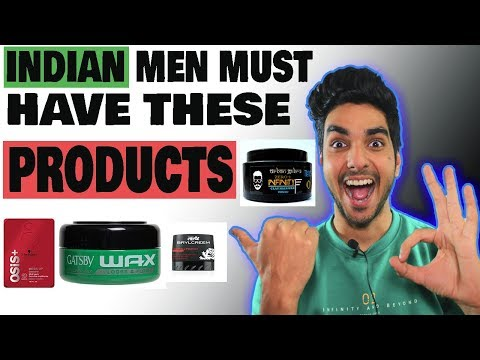 BEST hair styling products for INDIAN MEN 2018| Best hair wax ever