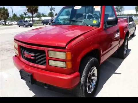 Gmc Sierra Truck >> 1994 GMC Sierra GT step side walk around RARE truck! - YouTube
