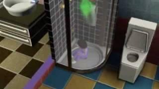 sims 3 bambin enfermés dans la douche