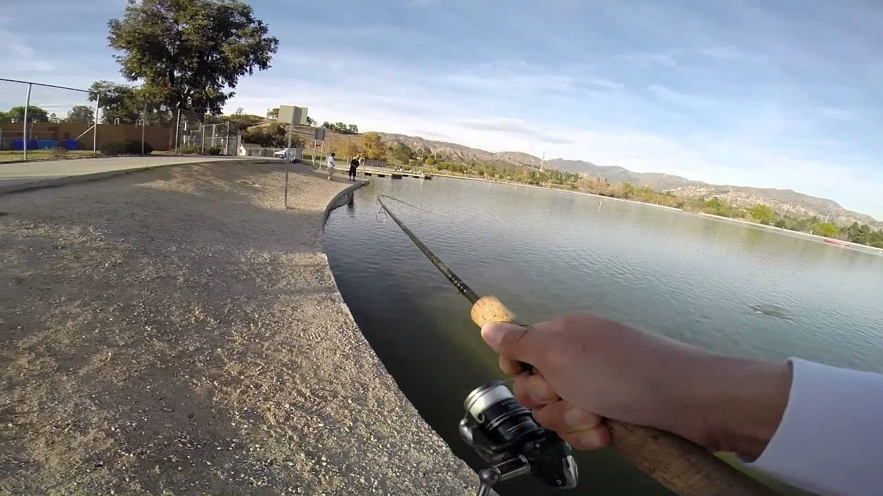 Hansen dam lake fishing youtube for Nearest fishing lake