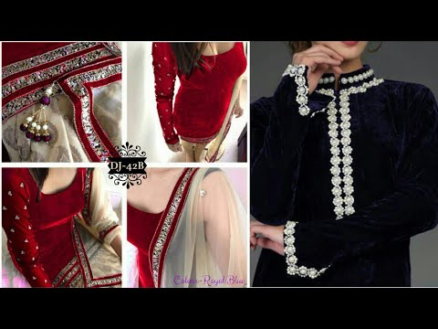 New 55 Velvet Suit Designing With Laces Accessories Latest Lace