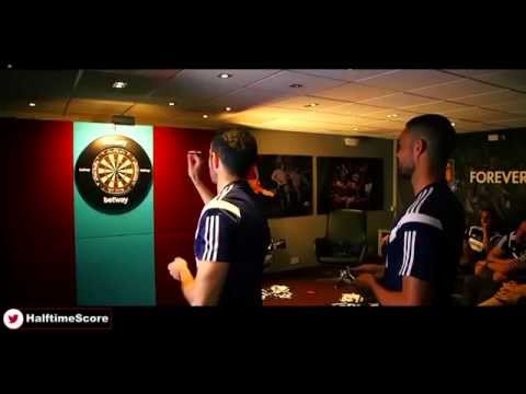 West Ham Players And Manager Sam Allardyce In Darts Challenge