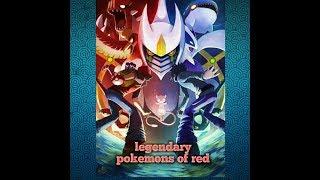 All legendary Pokemon's of red