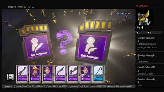 Fortnite Save The World - Opening 95 Legendary Troll Stash Llamas! Free Legendaries Await You!!