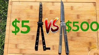 $5 VS $500 Balisong. Cheap vs Expensive Butterfly Knife.