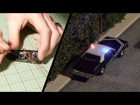 Flashing Police Lights – Model Railroad Scenery