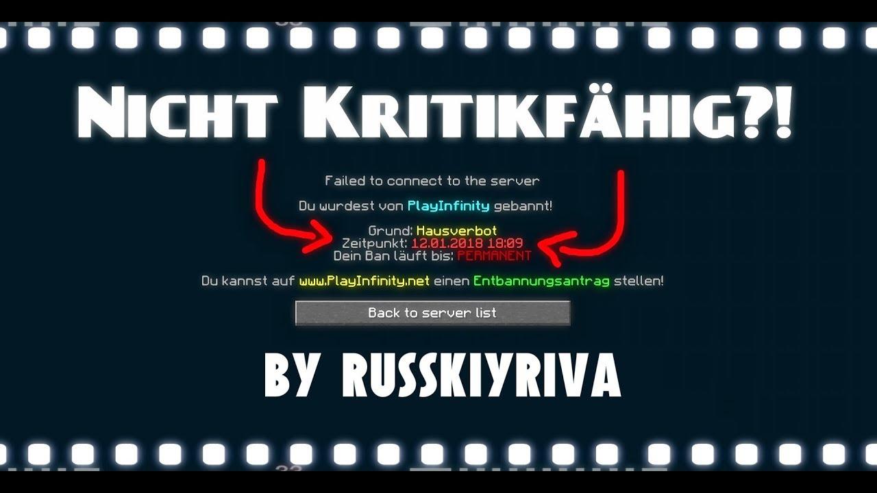 Playinfinity nicht kritikfähig!?c.c | russkiyriva - YouTube