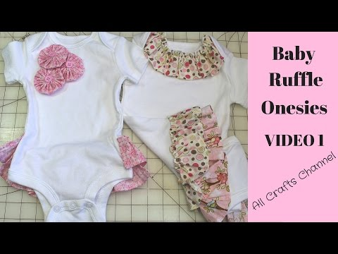 How To Sew Baby Ruffle Oneside  - Video 2