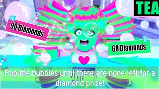 NEW BUBBLE MINI-GAME! POP BUBBLES & GET DIAMONDS! Royale High Sneakly Lil Update