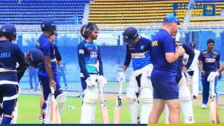 Sri Lanka team held its first practice session with the New Coach Mickey Arthur