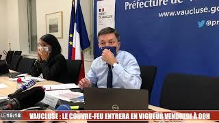 Vaucluse : le couvre-feu entrera en vigueur vendredi à minuit