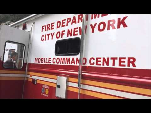 RARE LOOK INSIDE FDNY MCC1 DURING A FIRE PREVENTION WEEK EVENT IN BROOKLYN, NEW YORK CITY.