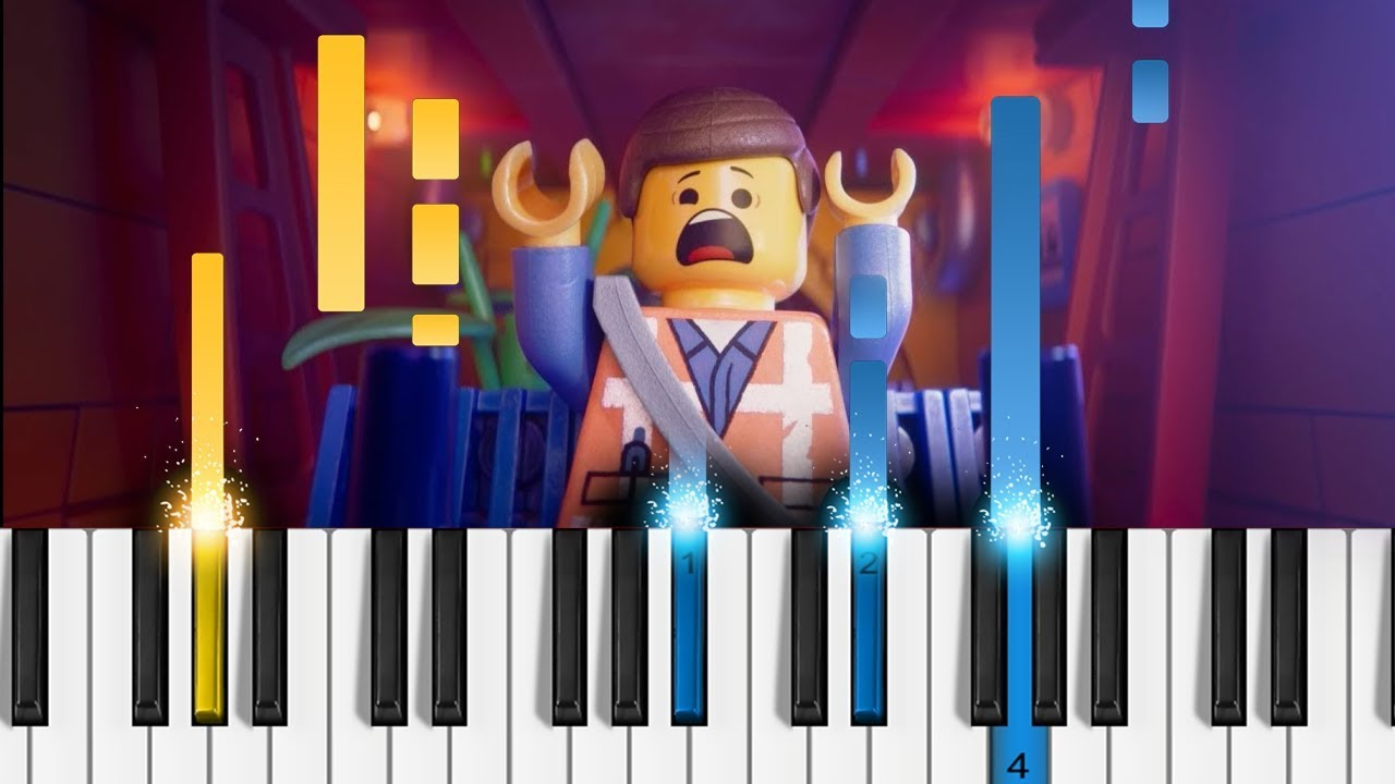 Everything S Not Awesome The Lego Movie 2 Easy Piano Tutorial Youtube