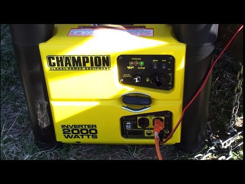 Champion 2000 watt inverter generator charging batteries