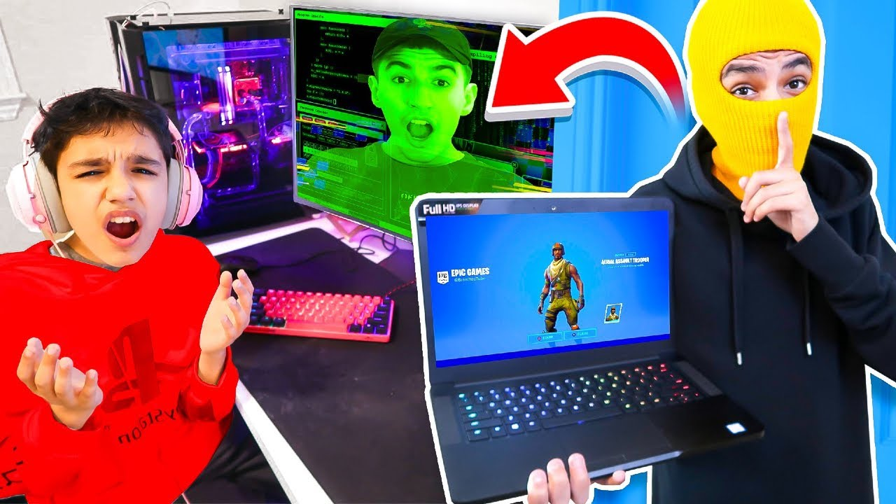 Hacker Steals My Little Brothers RARE Fortnite Account! Expensive Skins Stolen! (RAGE)