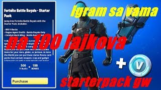 🔴Fortnite sa vama🔥Svakih 100 lajkova starter pack GW🔥 #fortnite #balokan #giveaway