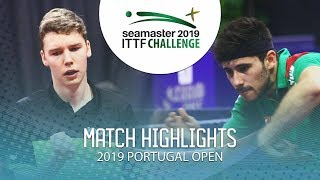Tobias Hippler vs Joao Geraldo   2019 ITTF Challenge Plus Portugal Open Highlights ( R64 )