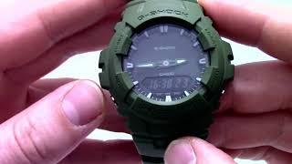 Годинник Casio G-SHOCK G-100CU-3A - Інструкція, як налаштувати від PresidentWatches.Ru