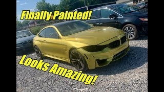 Rebuilding My Wrecked BMW M4 Part 6 Its Painted!