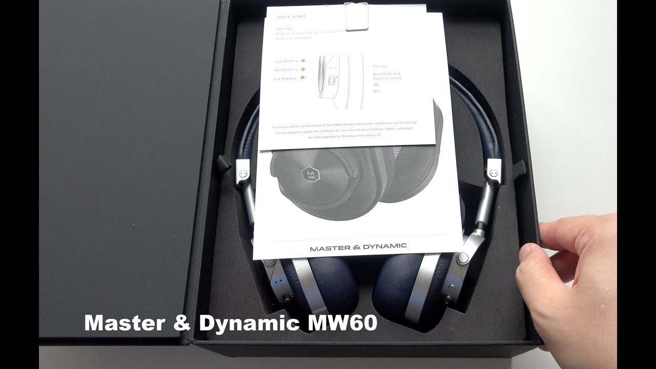 d59cc541edc Master & Dynamic MW60 Wireless Over-Ear Headphones Unboxing - YouTube