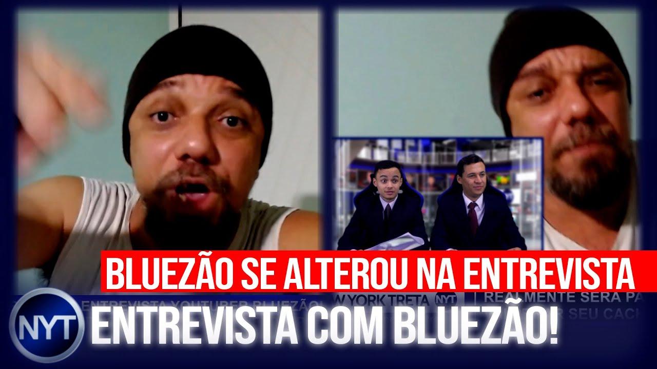 Bluezão se irrita em entrevista ao New York Treta, mostra teste de gravidez e detona Flow Podcast